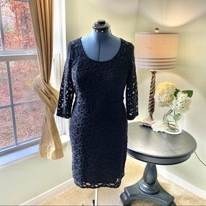 Lane Bryant Lined Stretch Lace Dress Size 14